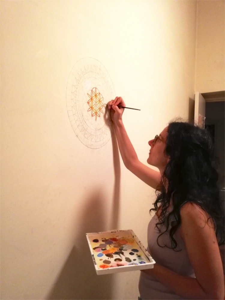 me painting in parents house